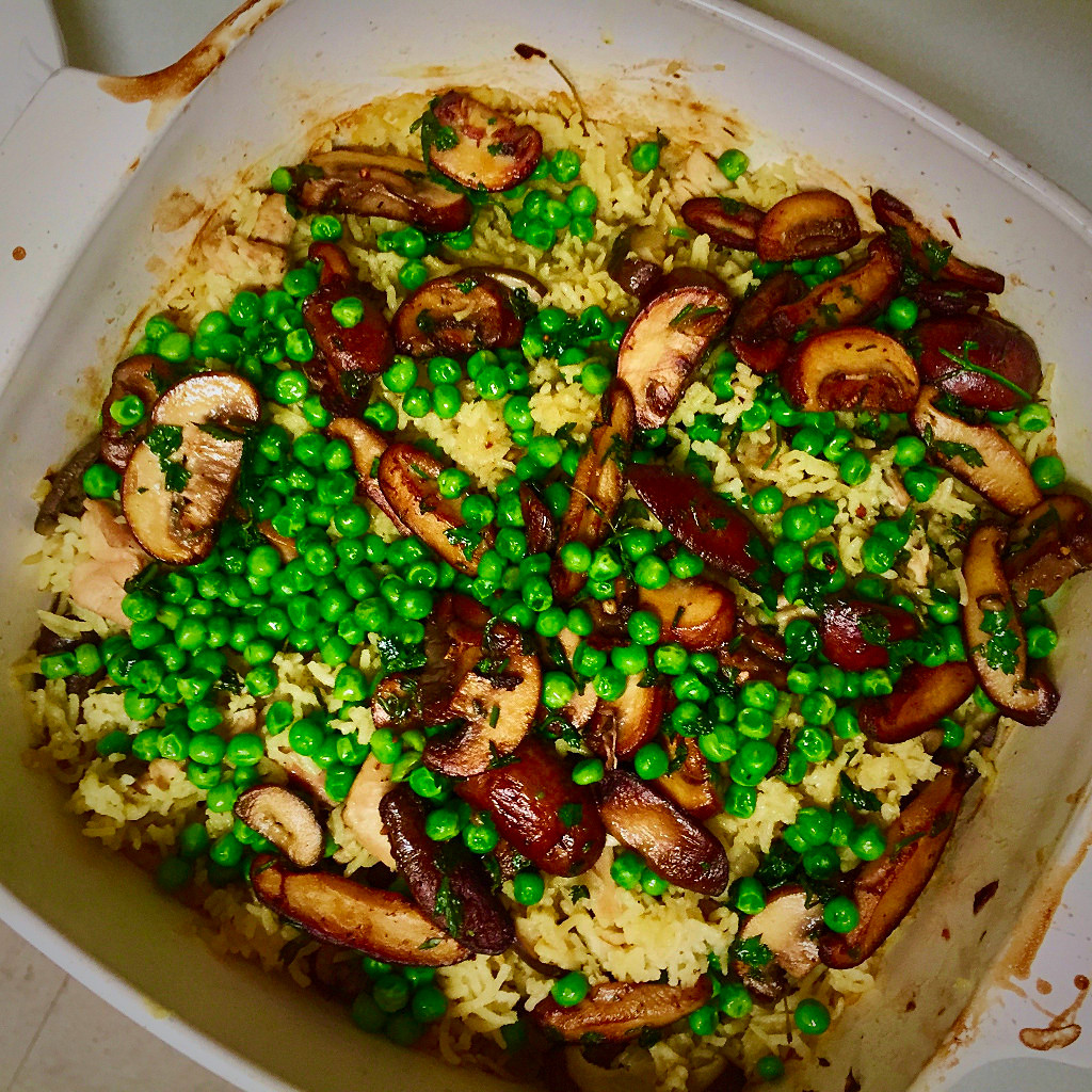 Baked rice with chicken and mushrooms from david tanis in the new baked rice with chicken and mushrooms from david tanis in the new york times forumfinder Choice Image