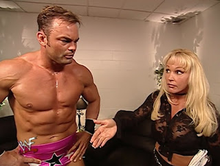 WWE / WWF Summerslam 2001 - Debra gives Shawn Stasiak a telling off