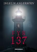 Omslag till Fyr 137. Bilden visar en fyr som lyser mot en mörk bakgrund. Titeln står med stora röda bokstäver.