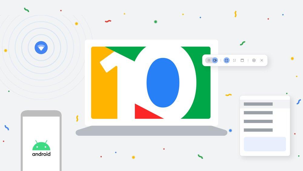 Nuove funzionalità su Chrome OS per il decimo anniversario dei Chromebook