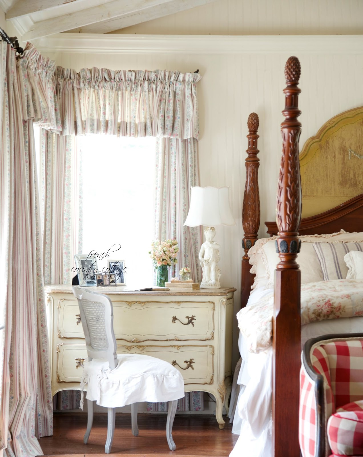 Vintage French Ticking Curtains
