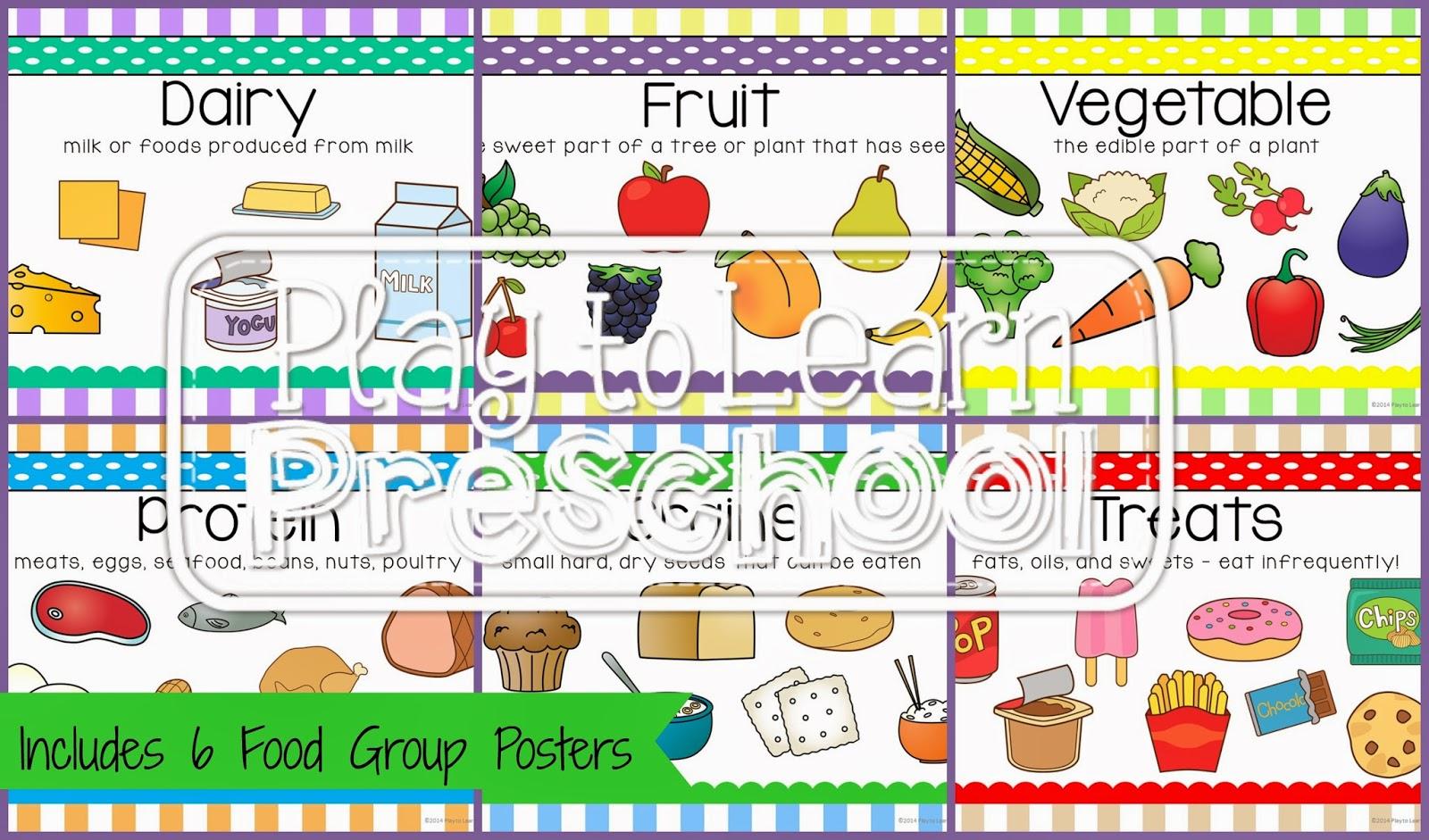 Play To Learn Preschool Nutrition Unit