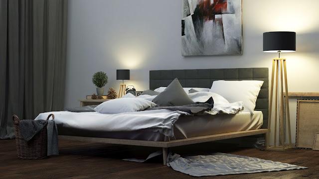 Lampy podłogowe w sypialni