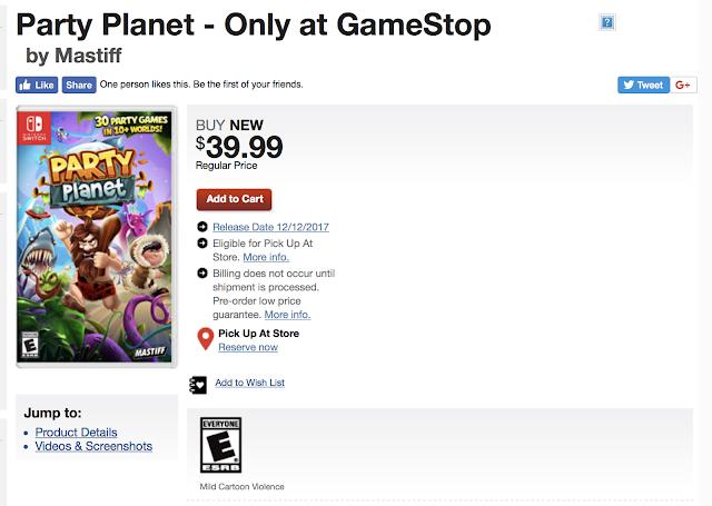 Party Planet llegará con muchos minijuegos a Switch en diciembre