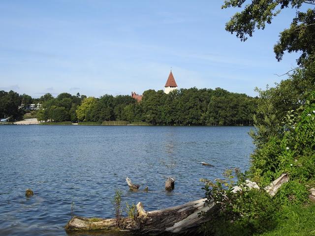Lubiąż to piękne jezioro otoczone zielenią.