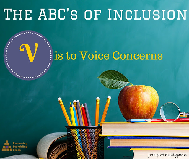 {ABC's of Inclusion} V is to Voice Concerns; Removing the Stumbling Block