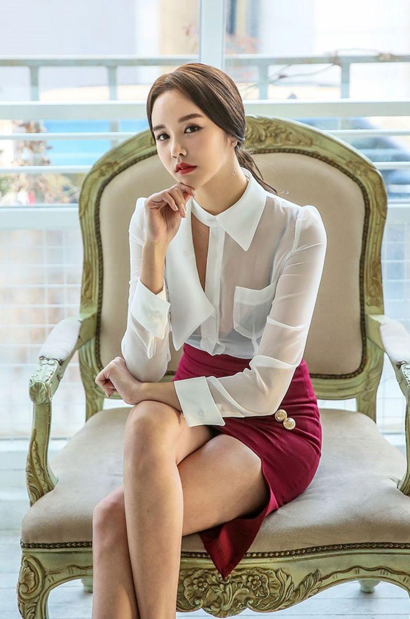 Korean Fashion Model - Chloe Kim - Indoor Photoshoot Collection - TruePic.net - Picture 2