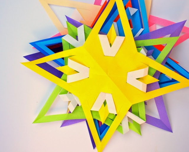 how to fold and cut origami stars with kids (video tutorial included)