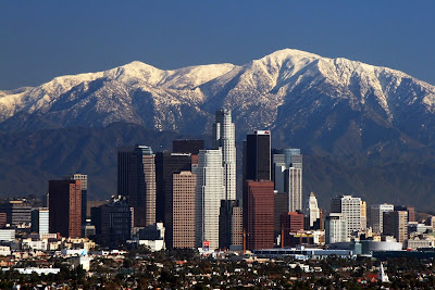 Losangeles Skyline Mountains