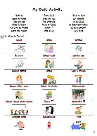 Materi Bahasa Inggris untuk Anak Level 1 (Usia 7 - 9 Tahun): Telling My Daily Activity (Menceritakan Kegiatan Sehari-hariku)