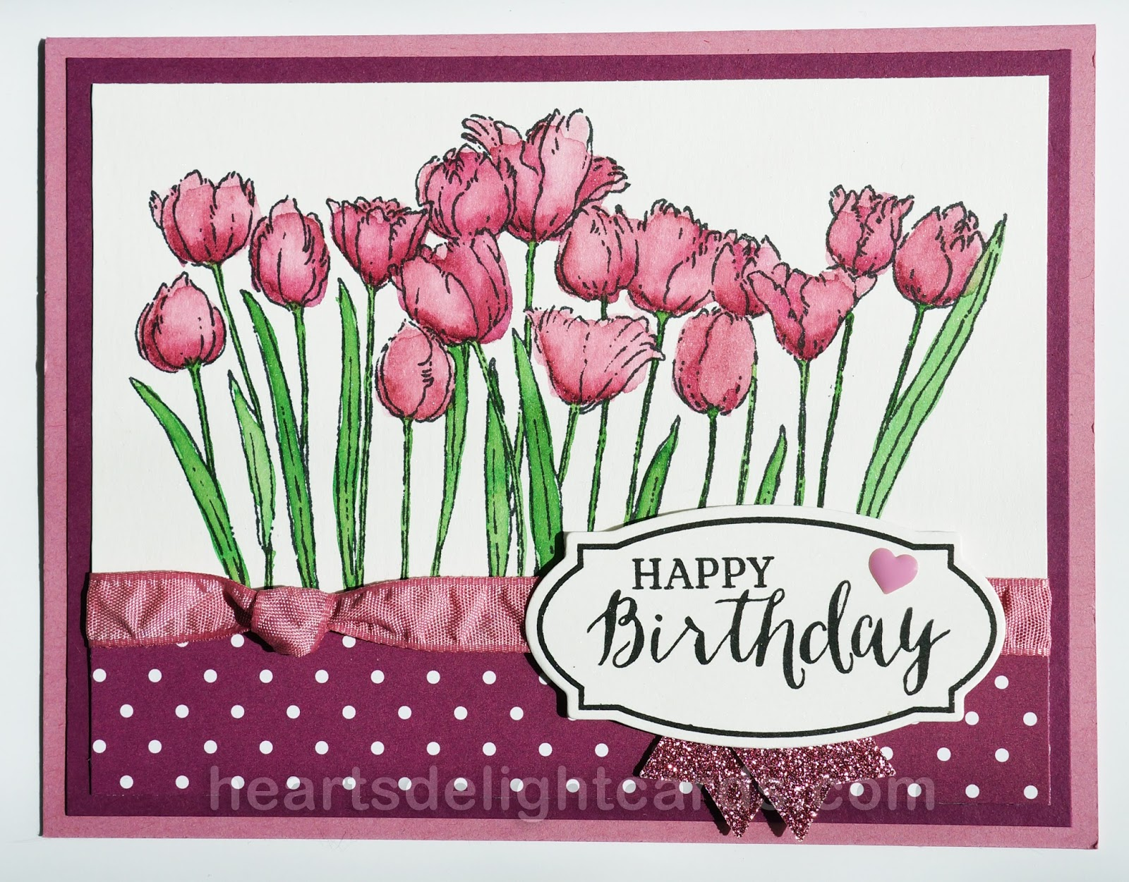 tulip in a heart card s delight cards birthday tulips 7267