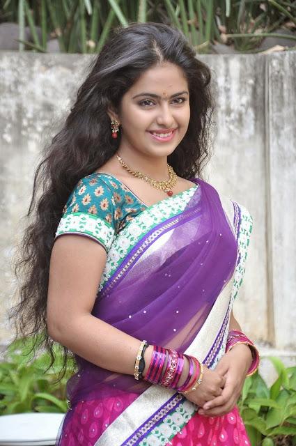 Telugu Actress Avika Gor Latest Stills In Half Saree Navel Queens