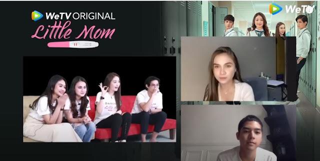 Video Reaction Natasha Willona dan Al Ghazali Nobar Little Mom Series Yuda, Keenan dan Naura