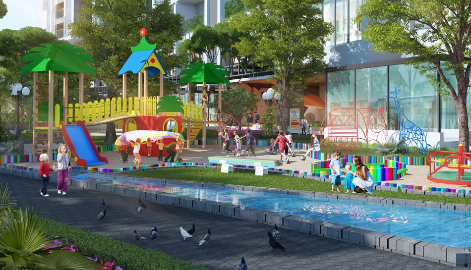 Khu vui chơi cho trẻ tại dự án The Emerald Đình Thôn