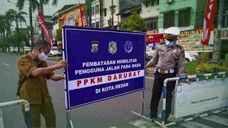 Polsekta Medan Kota Tegaskan All Out Dukung PPKM Darurat di Wilkumnya