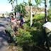 Personel Koramil 0821/10 Tempeh Karya Bakti Bersama Bersihkan Jalan dan Saluran Air
