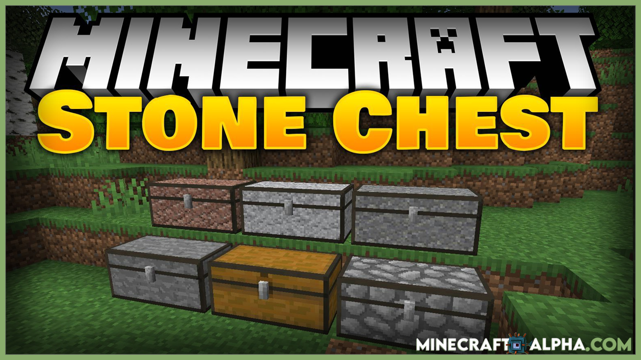 Minecraft Stone Chest Mod For 1.17.1 To 1.16.5 (Stone Variations, Vanilla Chests)