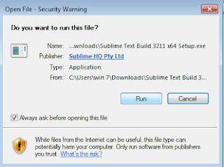 Cara  Menginstal Sublime Text 3 Di Windows 32/64 Bit