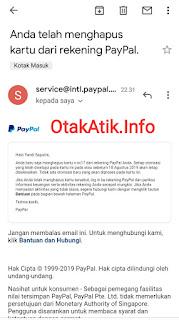email telah menghapus kartu kredit vcc di paypal