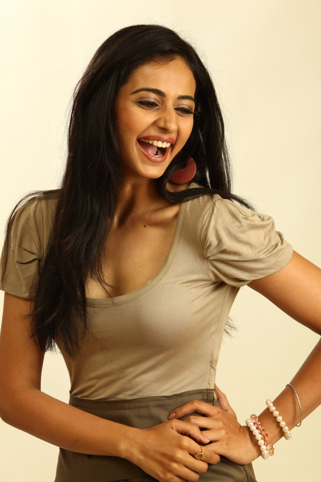 Rakul Preet Singh Mouth Open  Smiling Photos