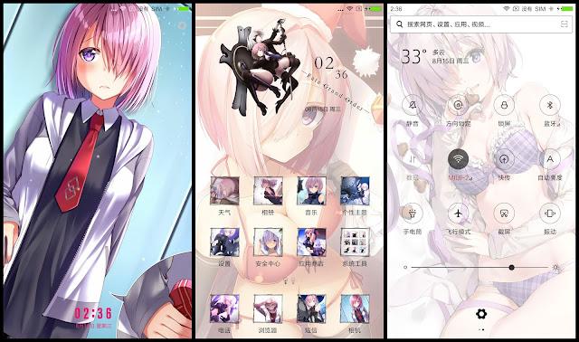 Tema Xiaomi Fate Grand Order Mashu Kyrielight V45 Gambar Anime Theme For