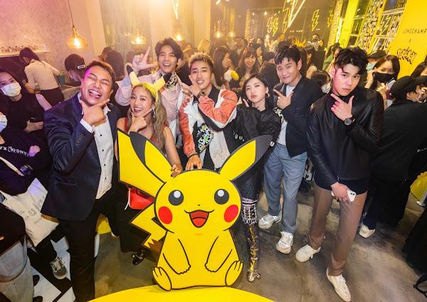 (左起)關韶文、鬼鬼吳映潔、林柏宏、婁峻碩、郭雪芙、周興哲、周予天出席「Longchamp x Pokemon聯名系列上市派對」(圖:公關提供)