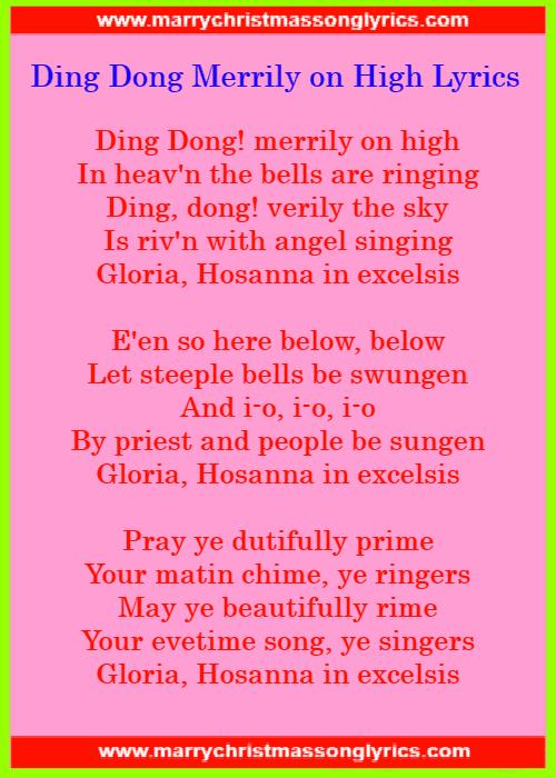 Ding Dong Merrily On High Lyrics Lyrics Image
