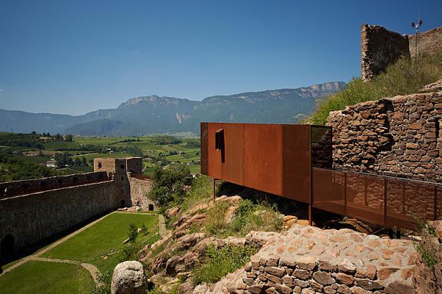 acciaio-corten-Messner Mountain Museum-restauro