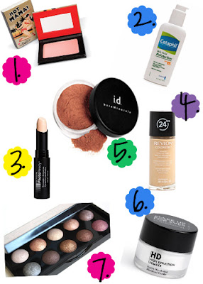 {my go to makeup products}