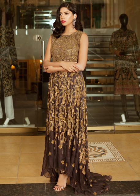 HSY bornze outfit formal dress