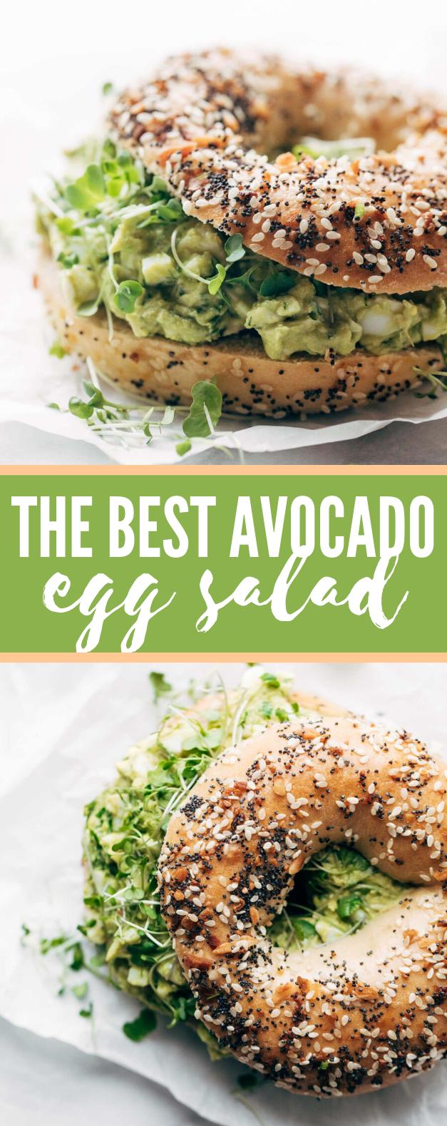 the best avocado egg salad #vegetarian #healthy #salad #veggies #avocado