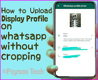 How to Place complete photo on WhatsApp profile picture without cropping