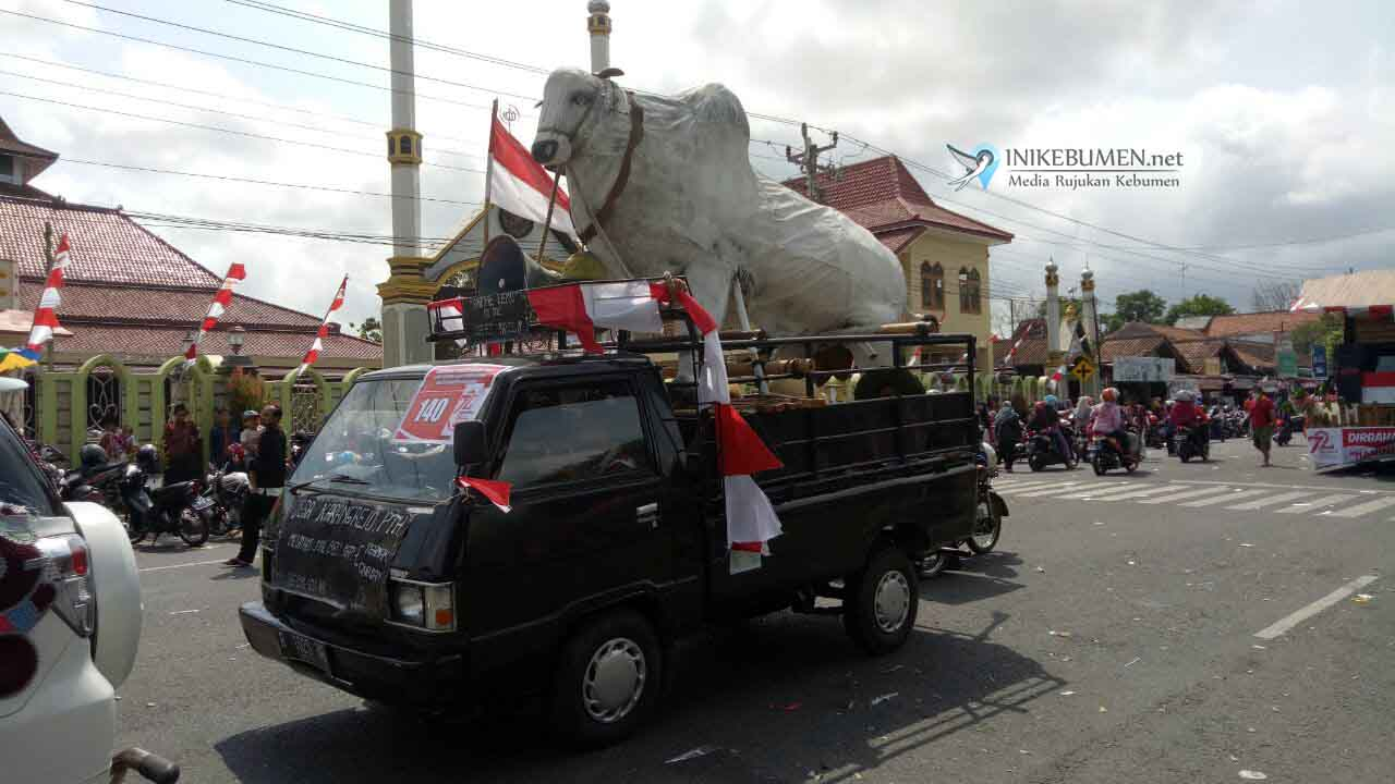 Sapi PO Raksasa Ikut Karnaval di Petanahan