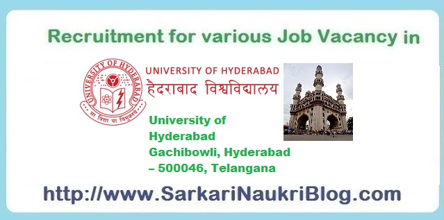 Naukri Vacancy Recruitment in University of Hyderabad