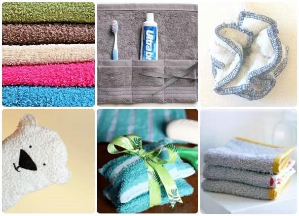 reciclar toallas, labores con toallas, manualidades con toallas