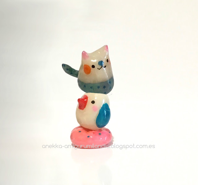 donut, bird and cat anekka handmade