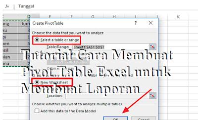 Tutorial Cara Membuat Pivot Table Excel untuk Membuat Laporan