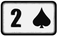 two of spades playing card