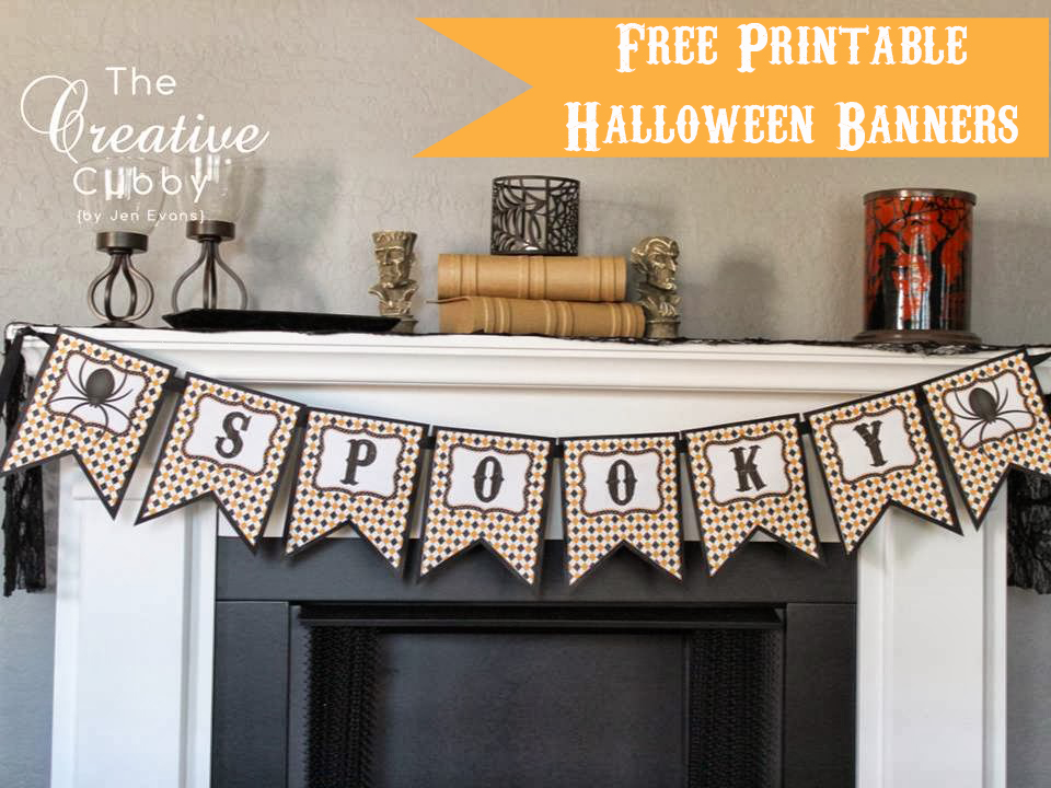 photograph relating to Free Printable Halloween Banner identify The Imaginative Cubby: Printable Halloween Banners