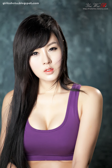 23 Hwang Mi Hee-Purple Sport Bra-very cute asian girl-girlcute4u.blogspot.com