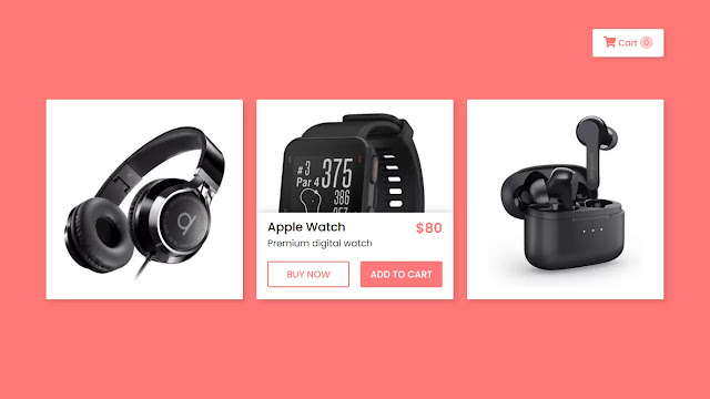 Product Cards with Fly to Cart Effect using HTML CSS & jQuery