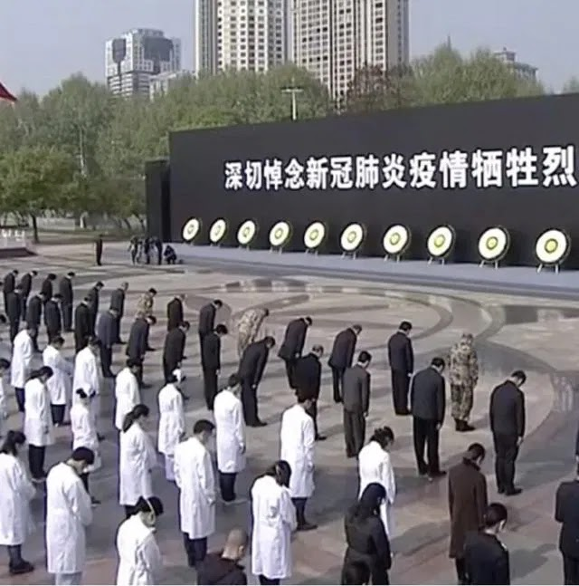 China mourns victims of COVID-19 in three minutes silence