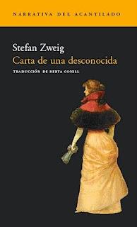 Carta de una desconocida, Stefan Zweig