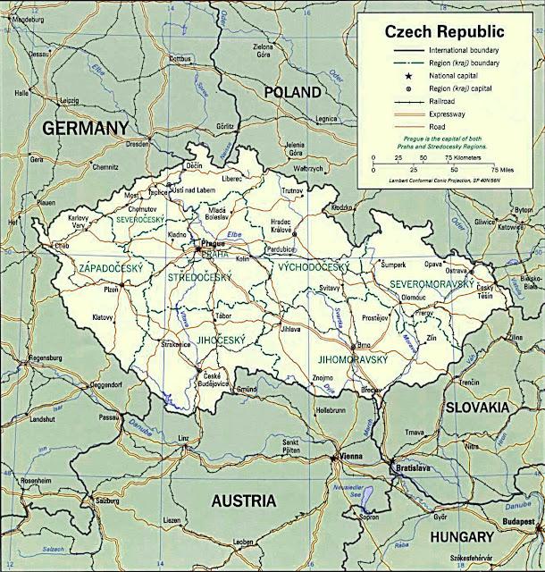 image: Czech Republic Political Map