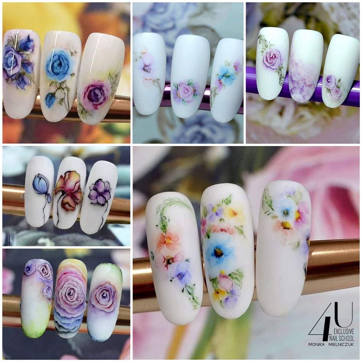 pomysły na paznokcie w kwiatki