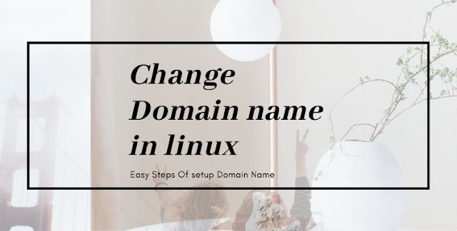 change domain name in linux