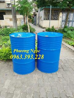Thùng phuy sắt nắp kín 220L, thùng phuy đựng hóa chất, thùng phuy cũ mới 7c9dd29e5aa0befee7b1