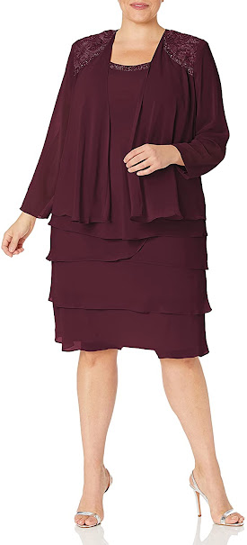 Elegant Plus Size Mother of The Groom Dresses With Jackets