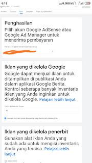 Masukan kode adsense pada google news