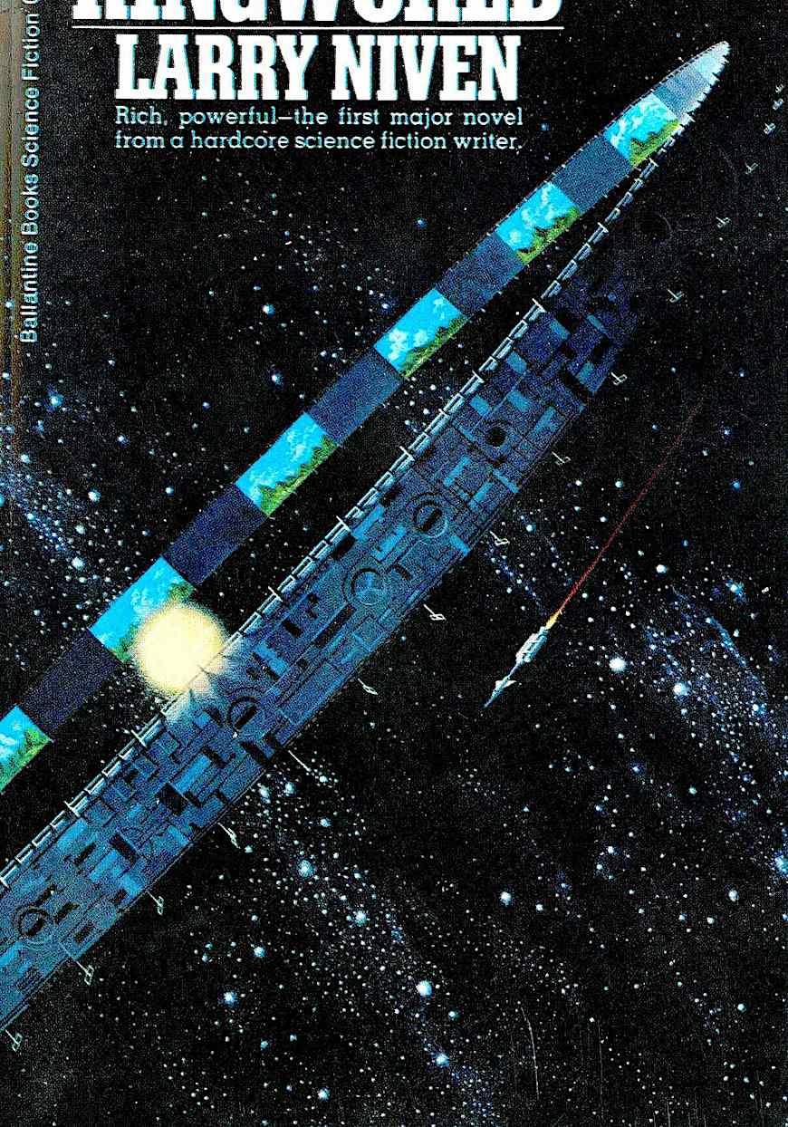 a 1970 Dean Ellis book cover illustration for Larry Niven's Ringworld